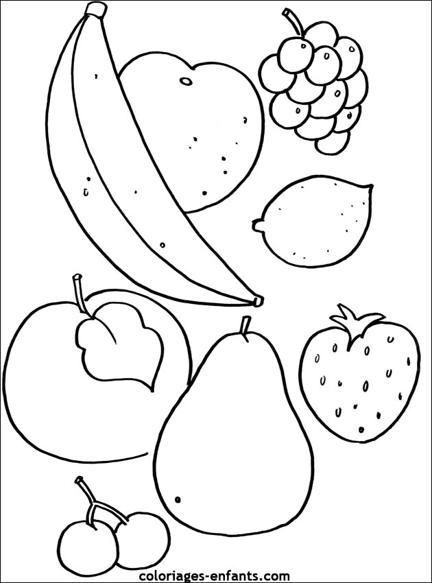 coloriage de fruit dessincoloriage
