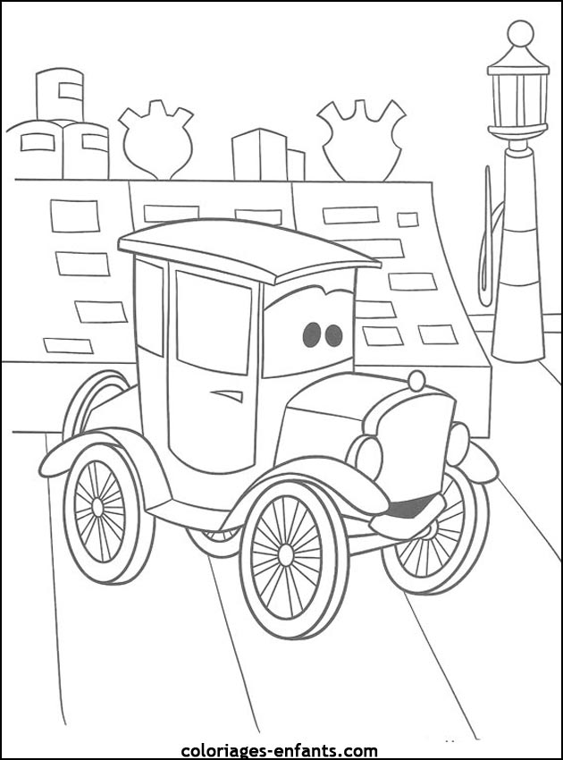voiture coloriage