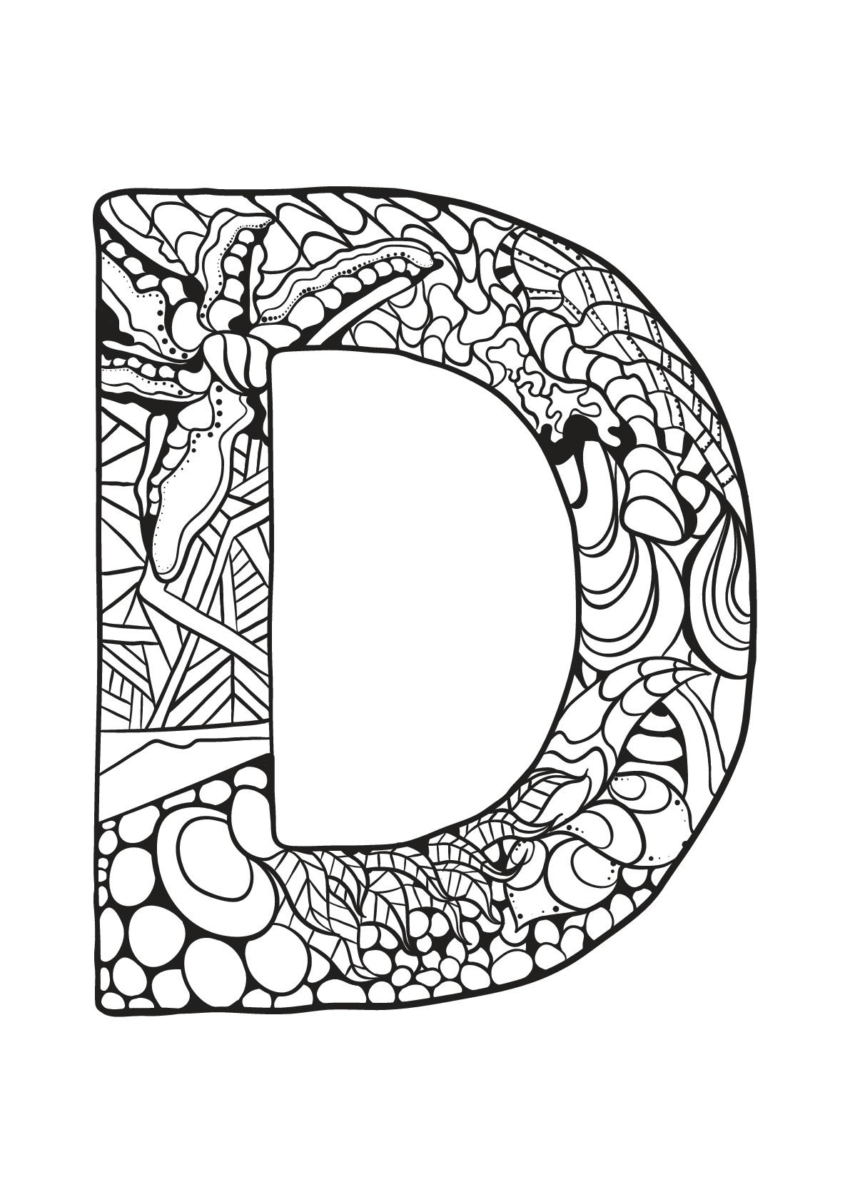 Alphabet Lettre D