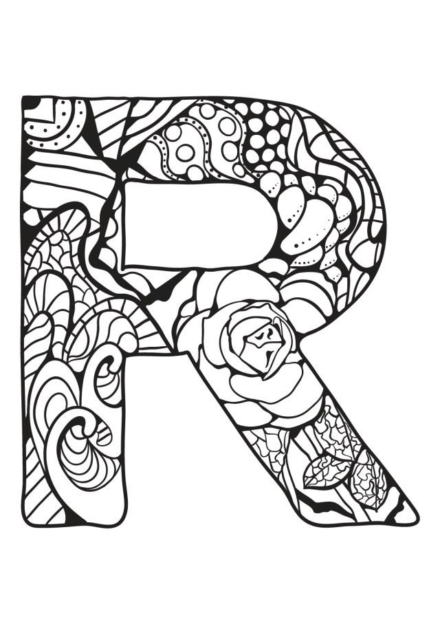 Alphabet lettre r - Coloriages alphabet et lettres