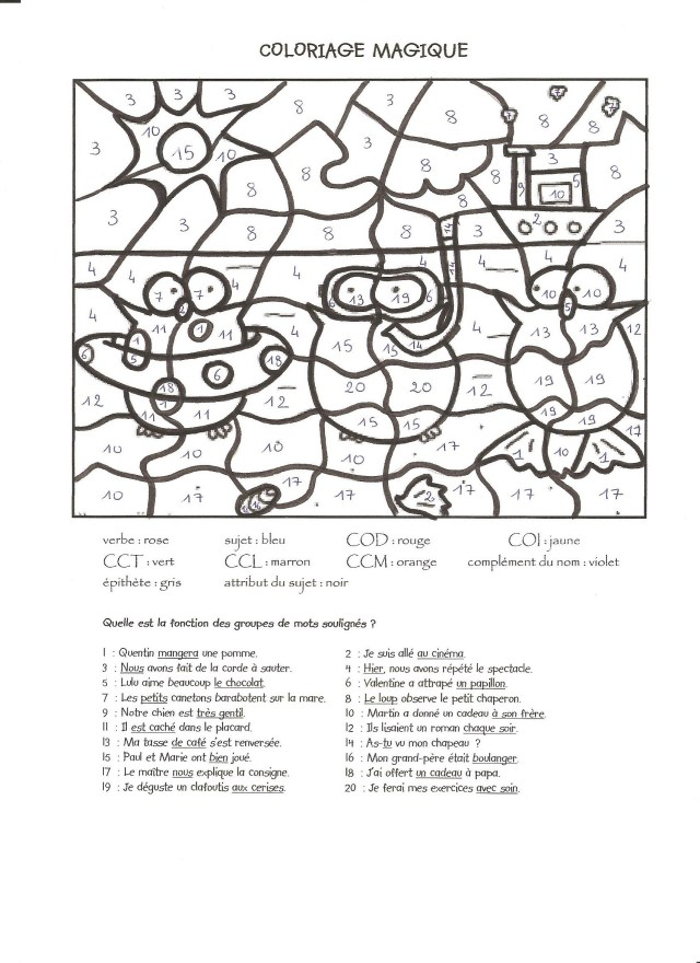 Magique 29 - Coloriage magique - Coloriages pour enfants