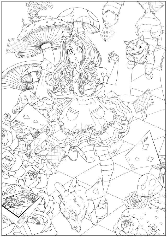 Alice au pays des merveilles version 26 - Coloriage Disney