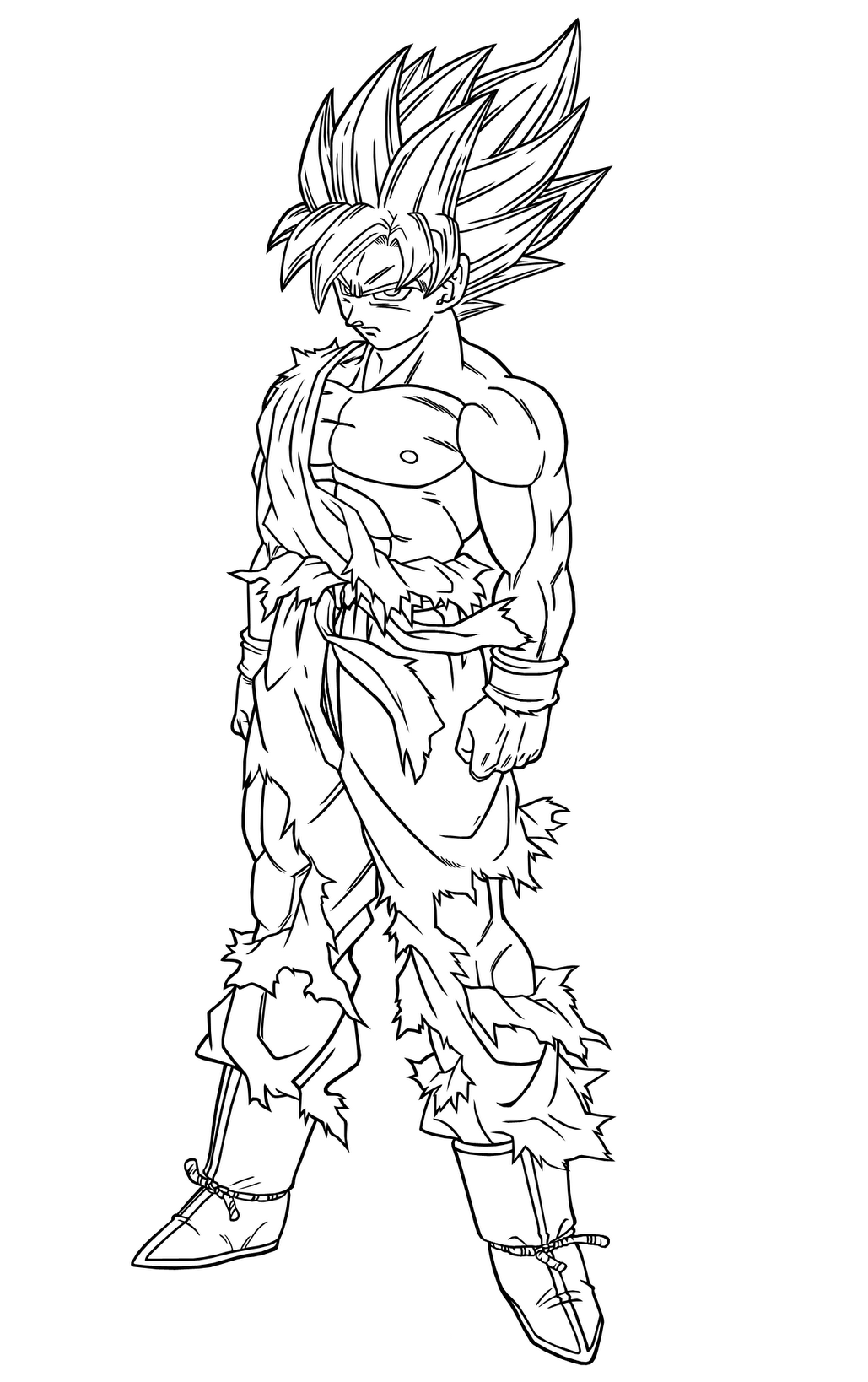 Belle Coloriage Dragon Ball Z Sangoku Super Sayen 4 Vs