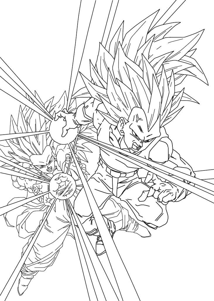 Facile Dragon Ball Vegeta Et Goku Super Saiyan 3 Fanart