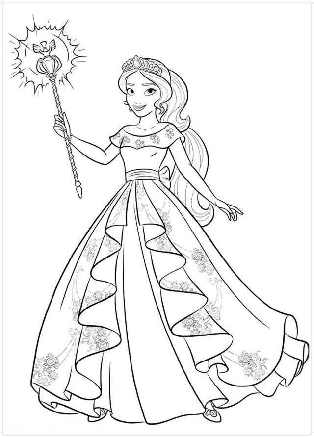Dessin de Elena Avalor gratuit à télécharger et colorier