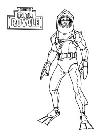Coloriage Emoji Fortnite.Coloriage Fortnite Leviathan Skin
