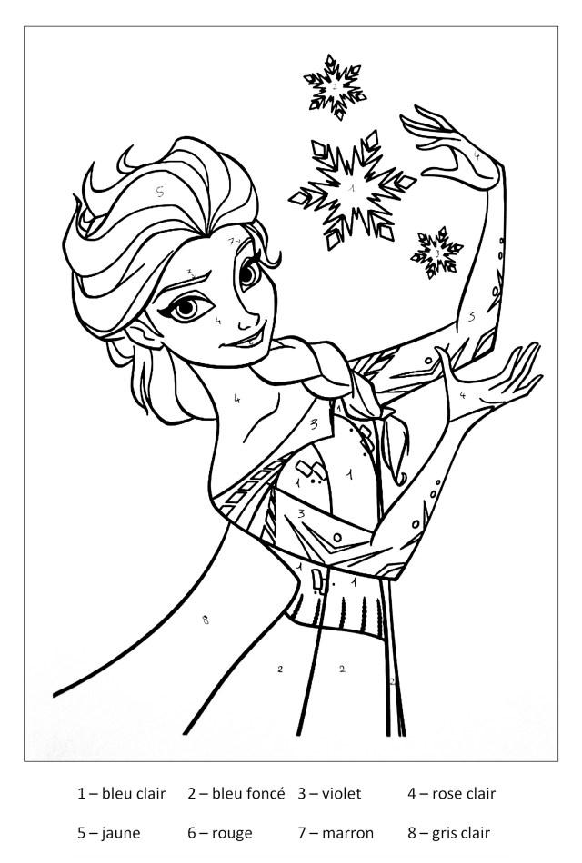 Magique la reine des neiges - Coloriage La reine des neiges