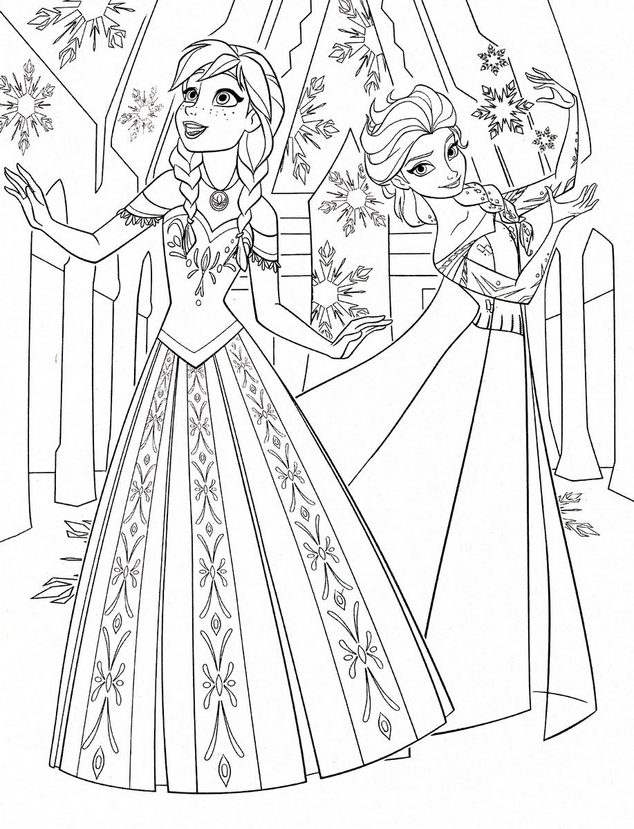 Reine Des Neiges Anna Et Elsa Avec Robes Magnifiques