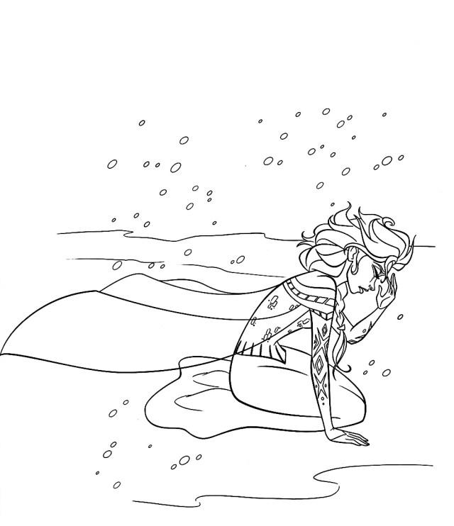 Reine neige disney tristesse - Coloriage La reine des neiges