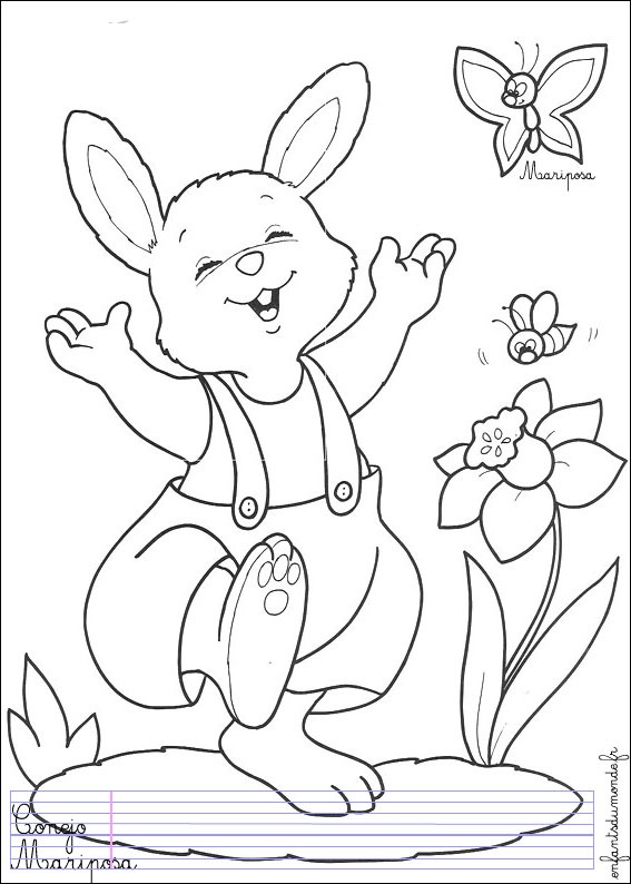 coloriages animaux lapins lapin dessincoloriage