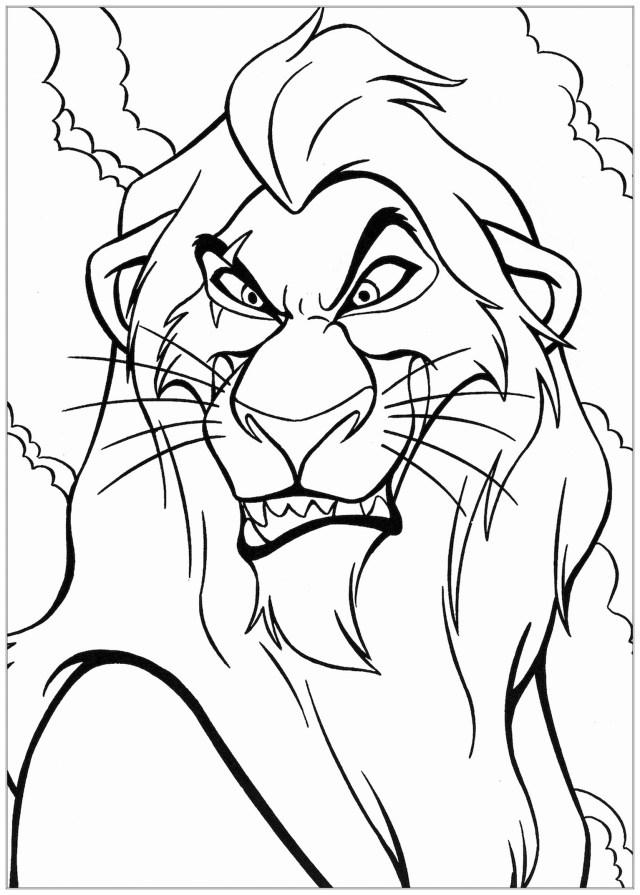 Scar - Coloriage Le roi lion - Coloriages pour enfants