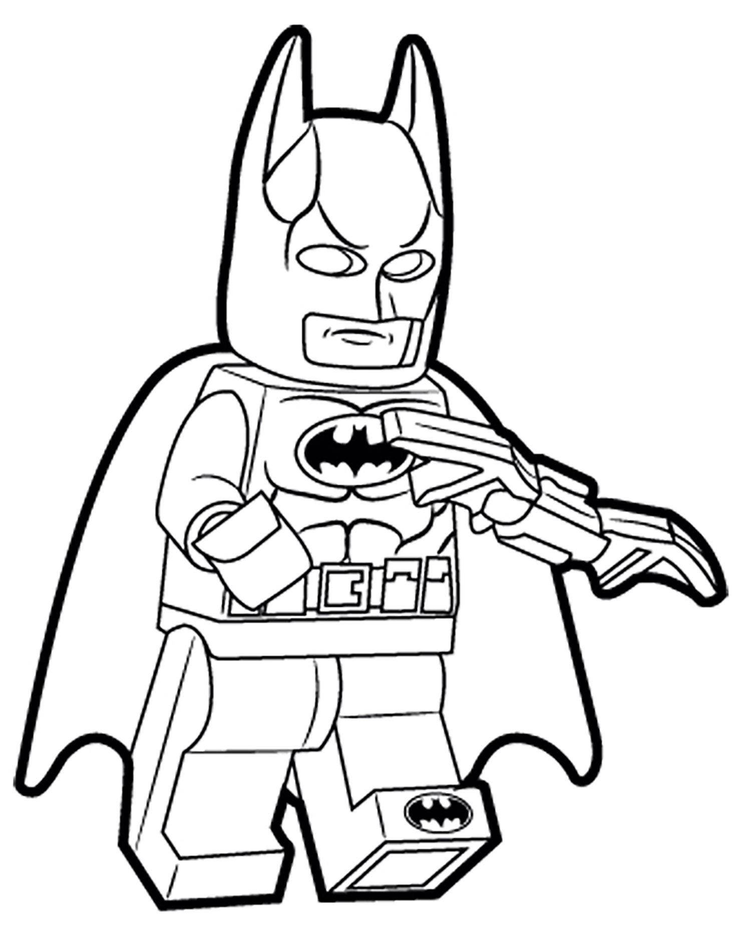 Coloriage de Lego Batman à colorier pour enfants