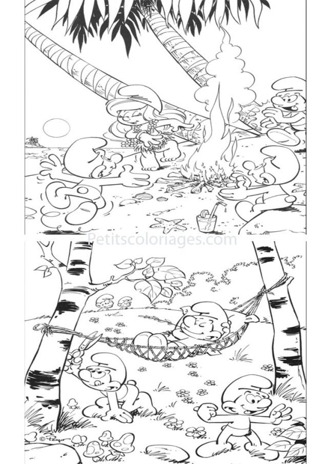 Coloriage de Les Schtroumpfs à imprimer - Coloriage Schtroumpfs