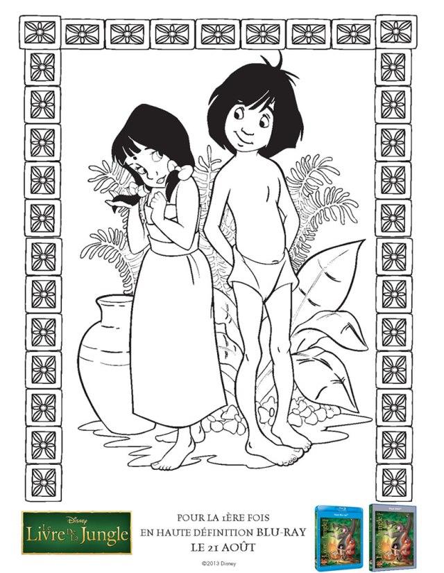 Coloriage de Le Livre de la jungle à telecharger gratuitement