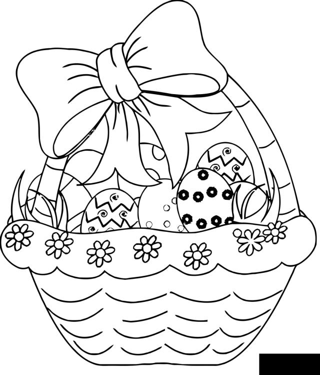 Image de Pâque à télécharger et colorier - Coloriage de Pâques