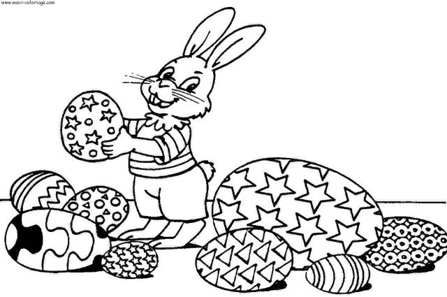 Coloriage de Pâque à imprimer gratuitement - Coloriage de Pâques