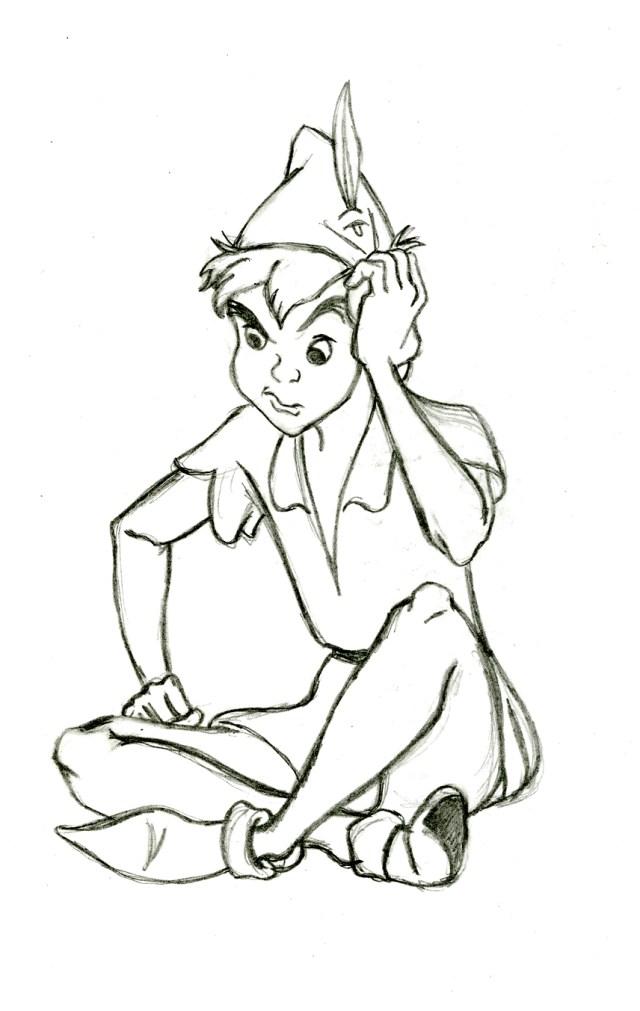 Dessin de Peter pan gratuit à télécharger et colorier - Coloriage