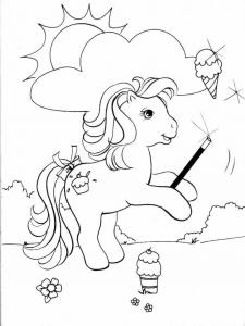 Coloriage de Petit poney à imprimer pour enfants
