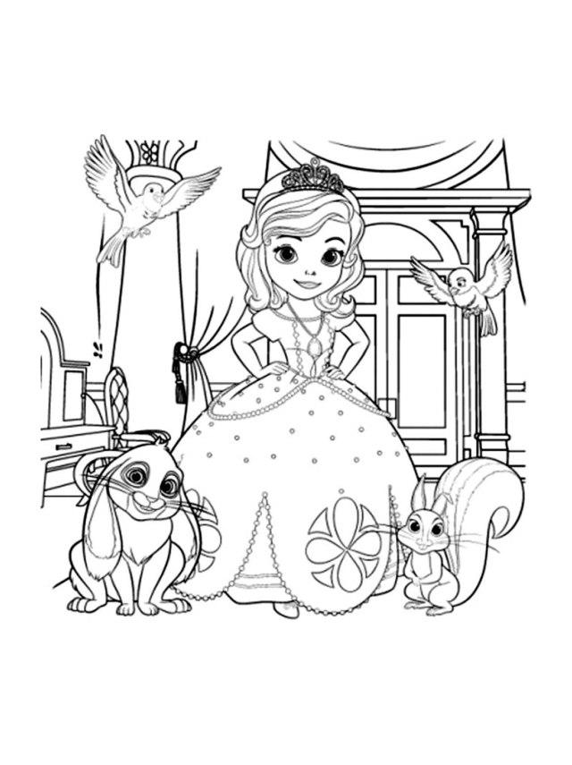 Coloriage de Princesse Sofia Disney gratuit à colorier - Coloriage