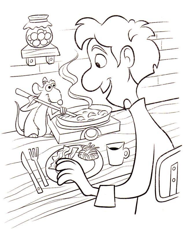 Coloriage de Ratatouille à imprimer pour enfants - Coloriage