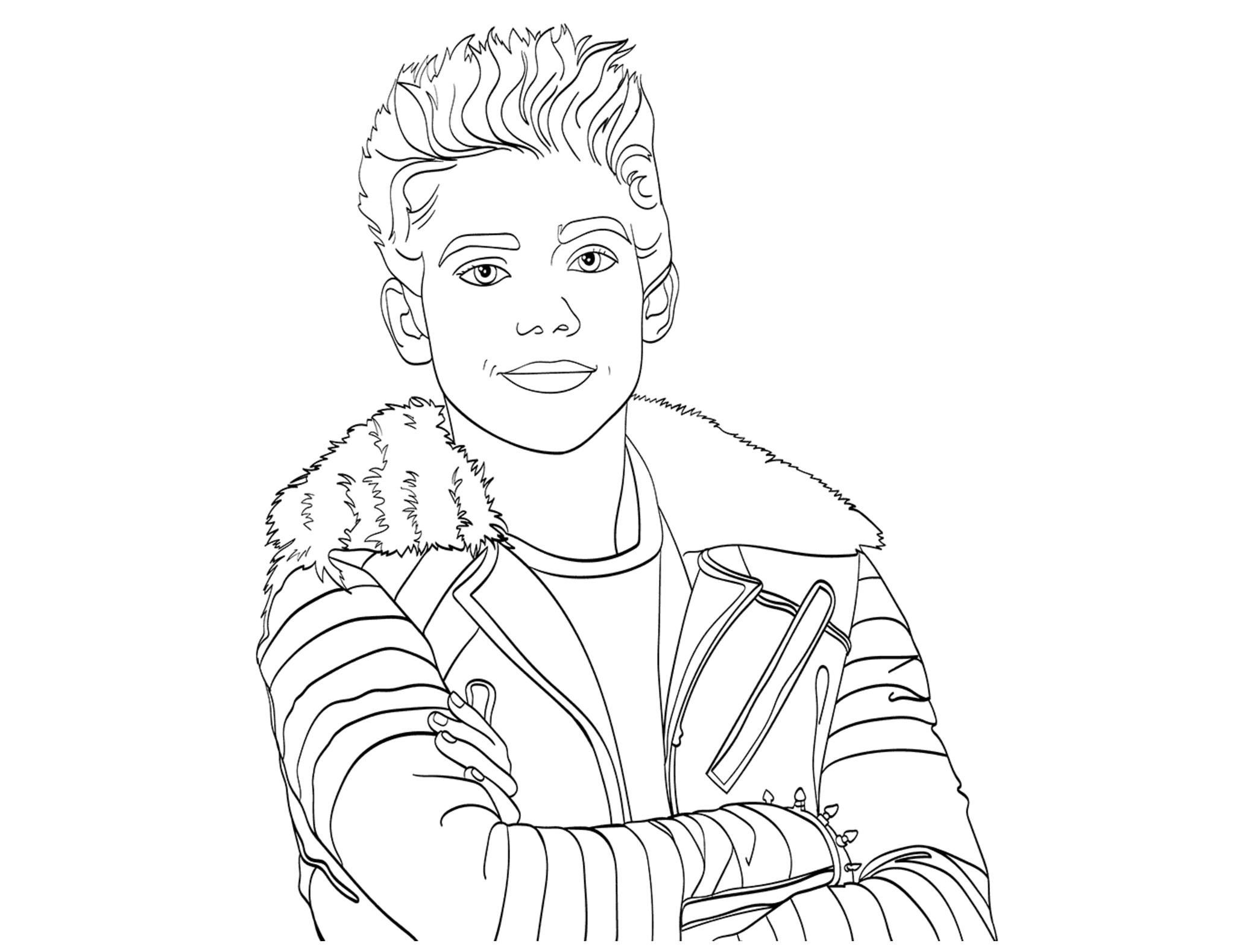 Descendants Ausmalbilder : Jay from Descendants coloring page