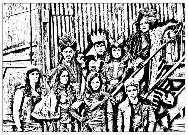 The descendants disney - Coloriage The Descendants - Coloriages