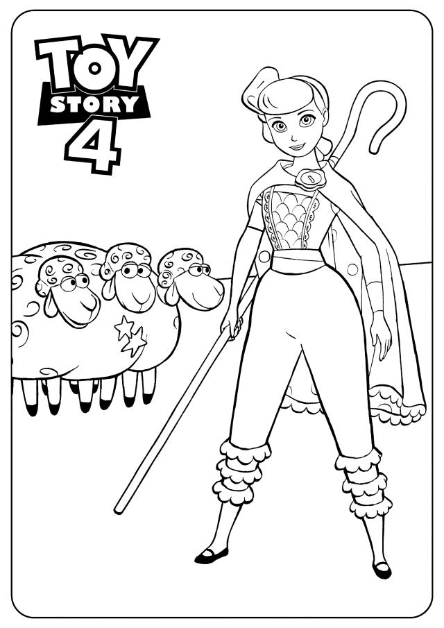 La bergère : Coloriage de Toy Story 25 à colorier pour enfants