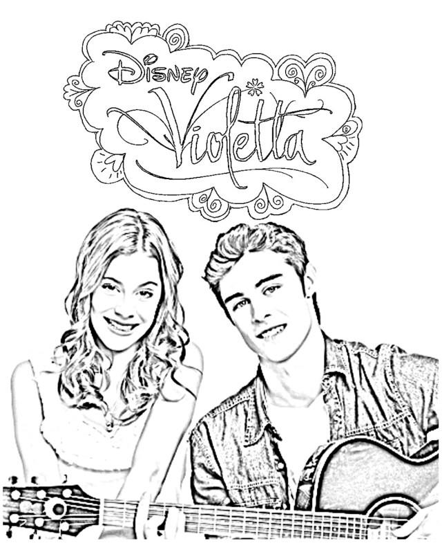 Violetta thomas ami - Coloriage Violetta - Coloriages pour enfants