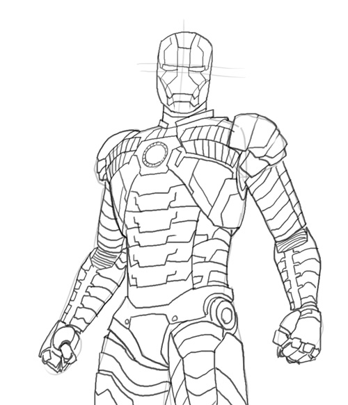 Avengers War Machine Coloring Pages