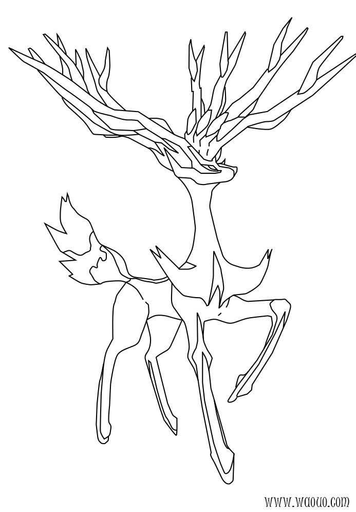 Yveltal Coloring Pages 04