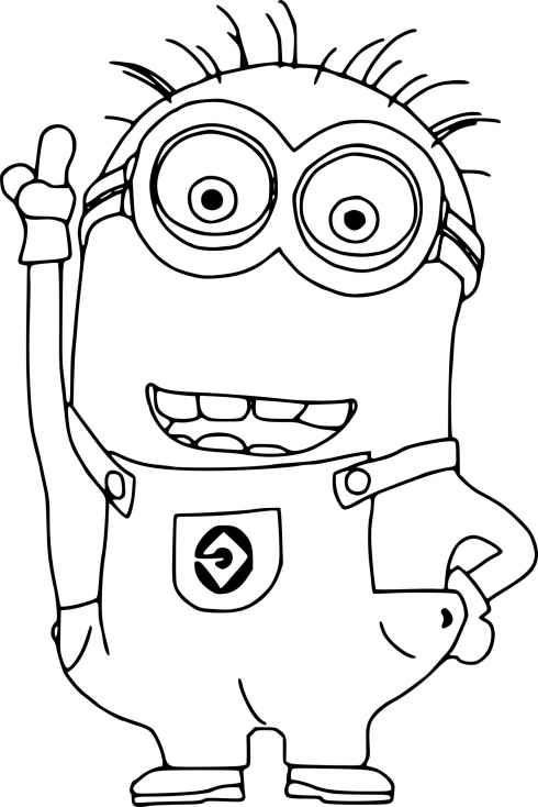 Coloring Pages Minions Bob
