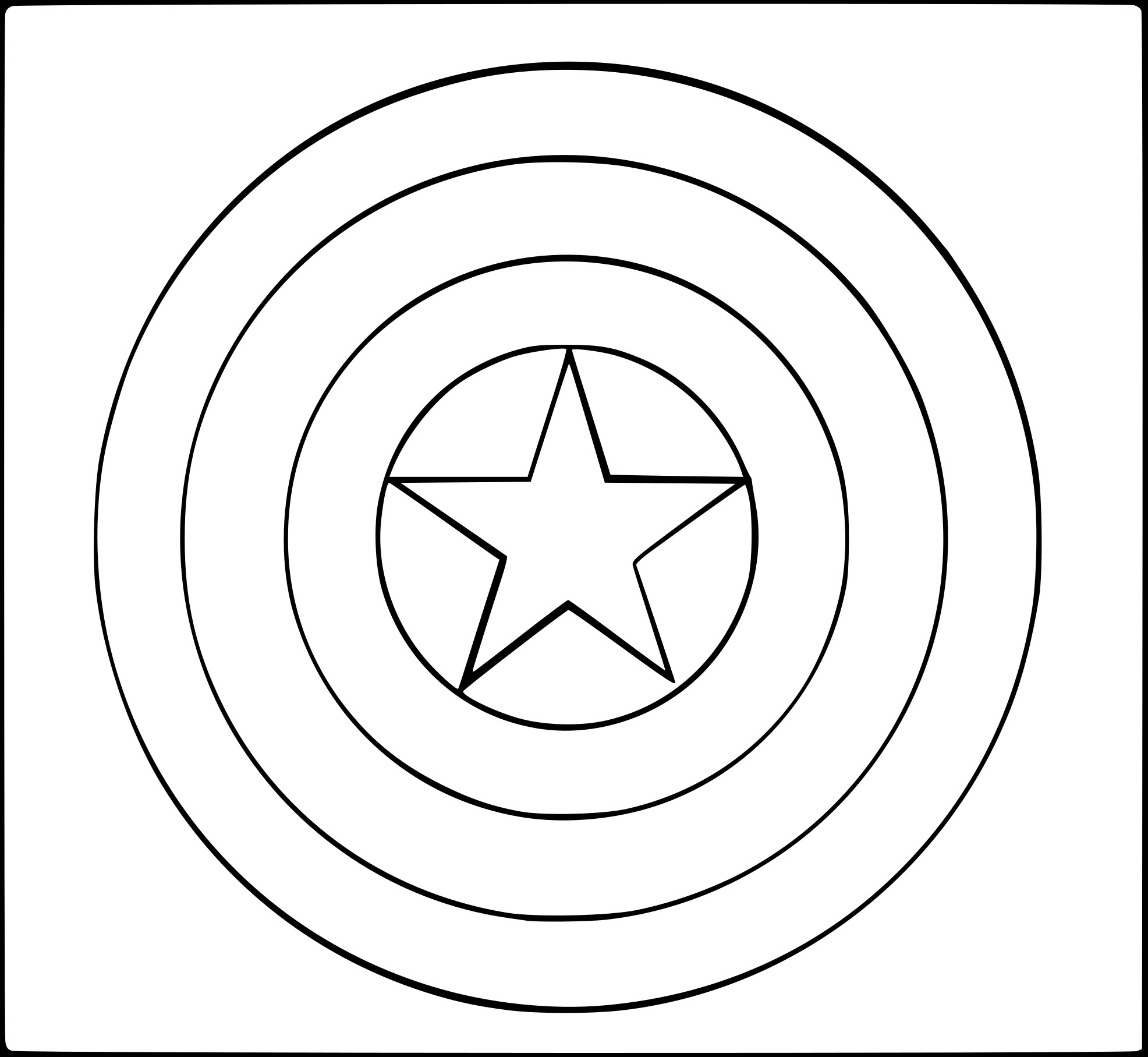 Captain America Logo Coloring Sheets Pictures to Pin on