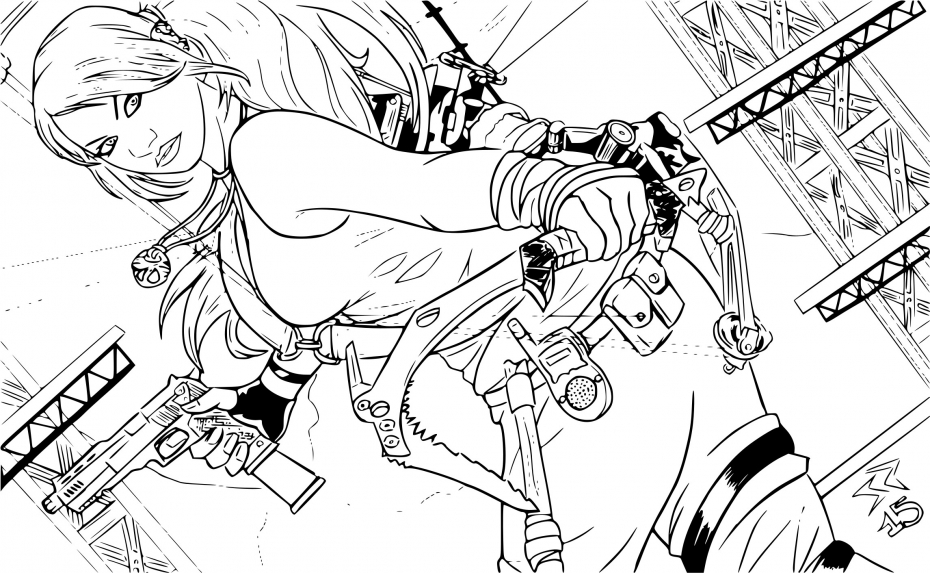 Tomb Raider Coloring Pages Sketch Coloring Page
