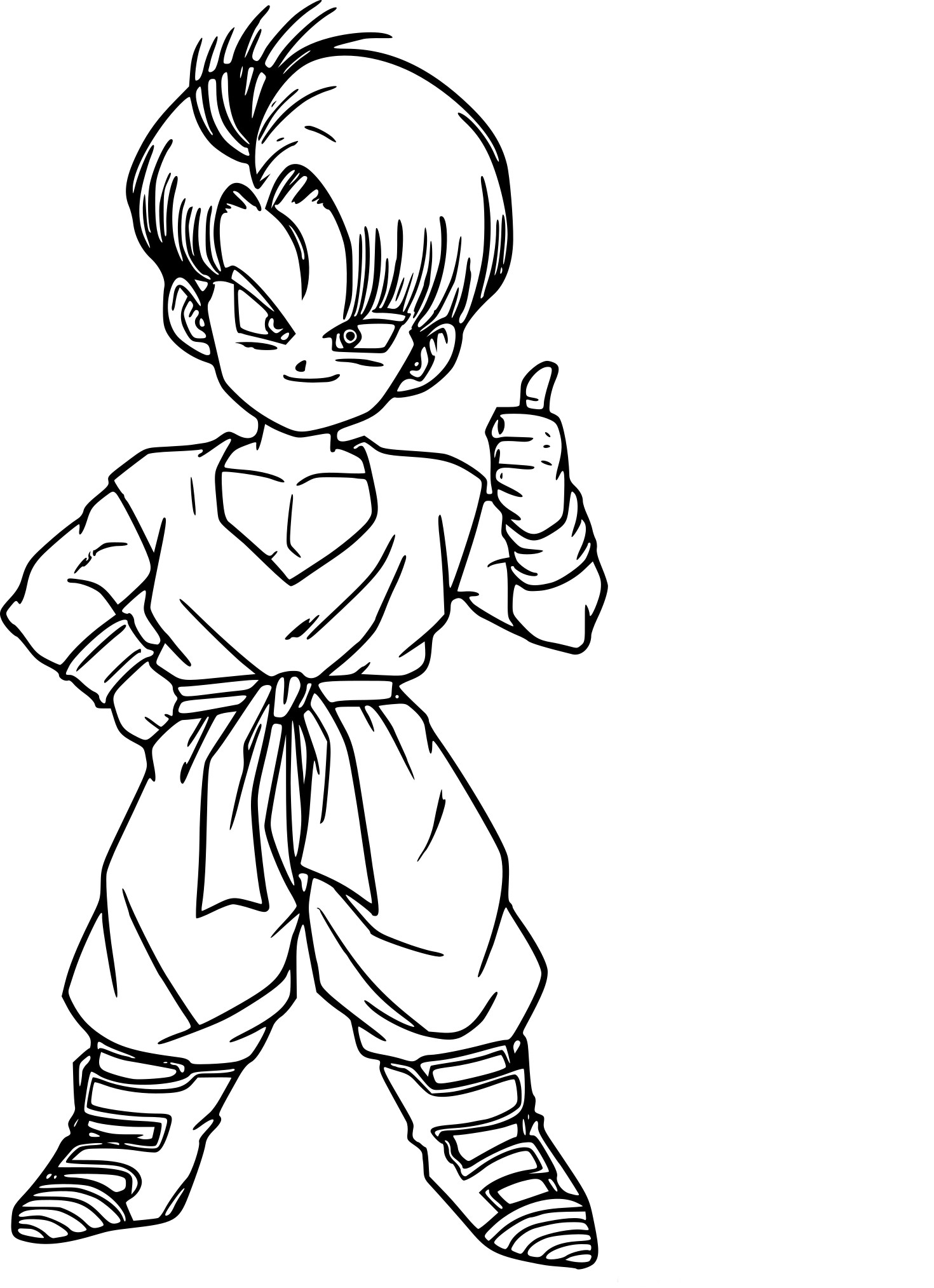 Coloriage Dragon Ball Z Trunks à imprimer sur COLORIAGES .info