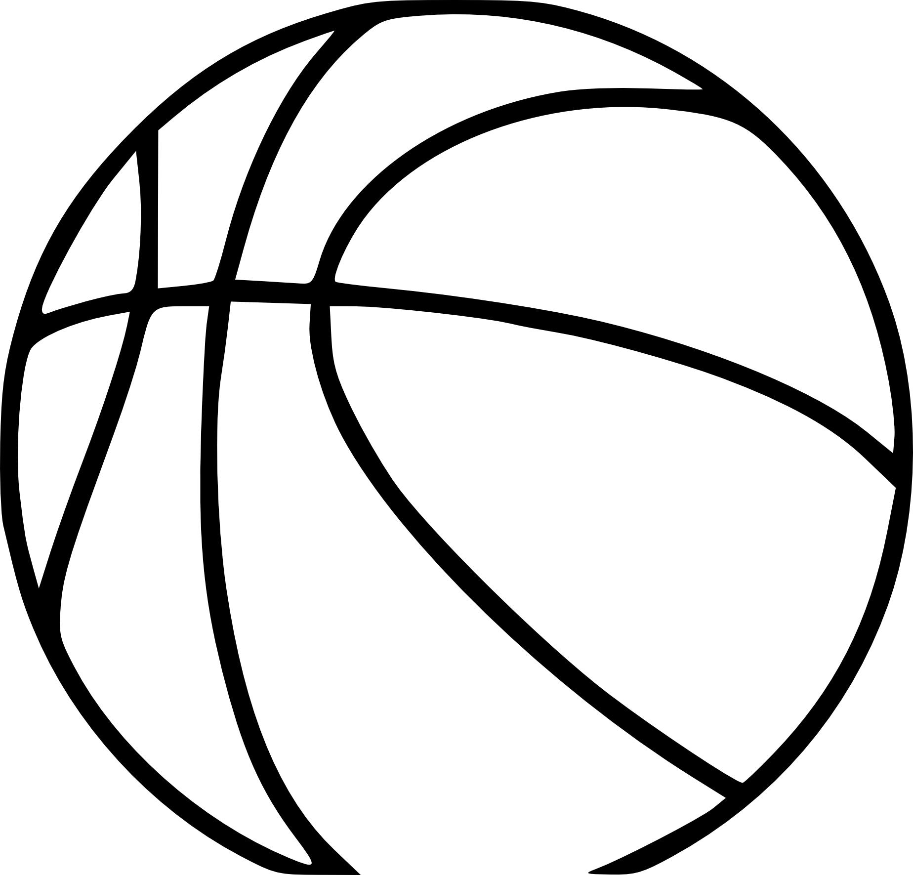 Coloriage D Un Ballon De Basketball A Imprimer Sur