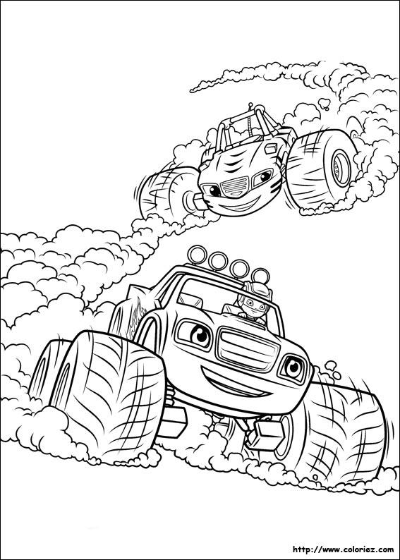 Coloriage Blaze Et Les Monster Machine Imprimer 13