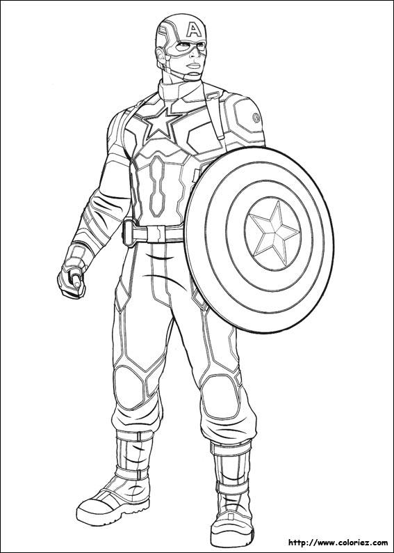 Coloriage Capitaine America Imprimer
