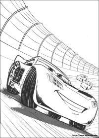 COLORIAGE - Flash McQueen sur le circuit
