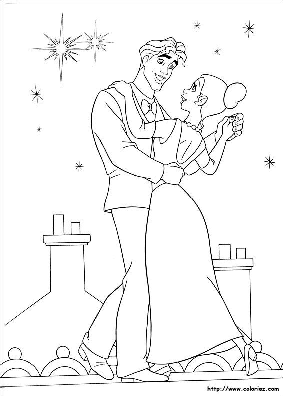 Coloring Pages © Princess & The Frog