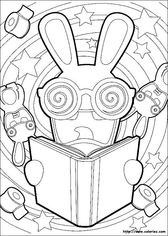 Free Coloring Pages Of Lapin Cretins