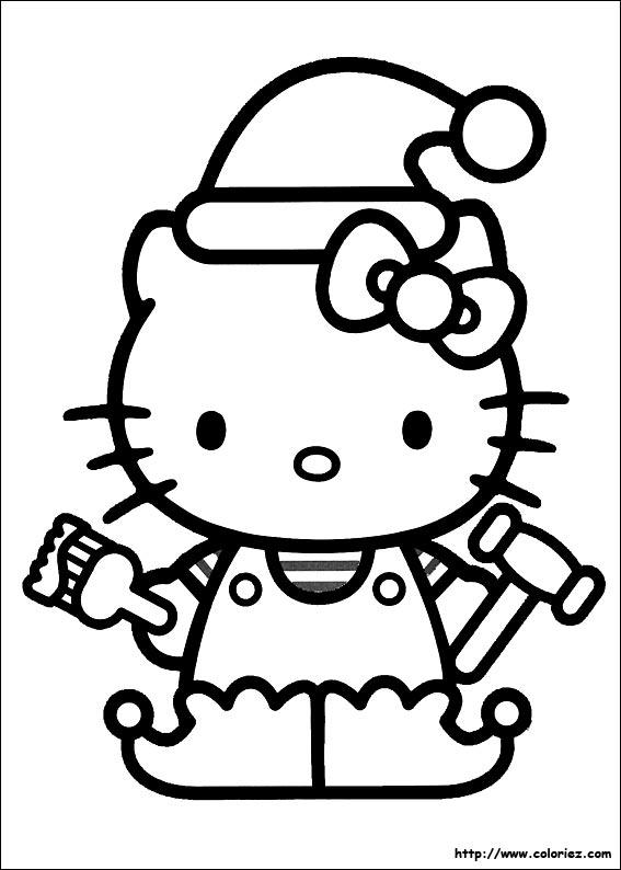 que Hello Kitty s'est transformée en lutin de Noël pour l