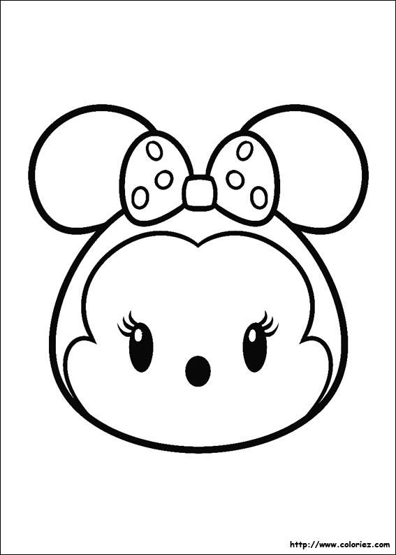 Coloriage Tsum Tsum Pig Disney Dessin