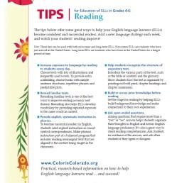 Reading Tip Sheets for Educators   Colorín Colorado [ 1058 x 807 Pixel ]