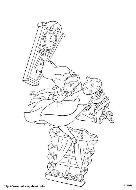不思議の国のアリス塗り絵 alice in wonderland colorin : ディズニー