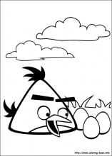 angry bird coloring page # 16