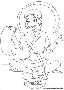 Cute Aang Coloring Page - Free Avatar: The Last Airbender Coloring ... | 308x220