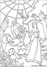 beauty and the beast coloring page # 5