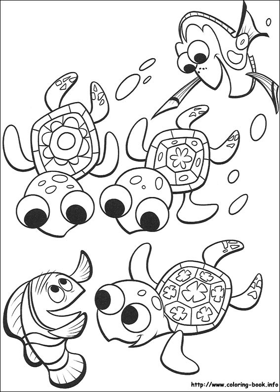 finding nemo coloring page # 11
