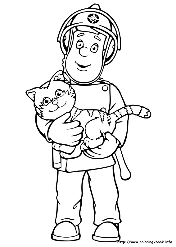 fireman coloring page # 62