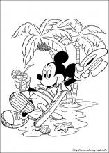 mickey coloring page # 18